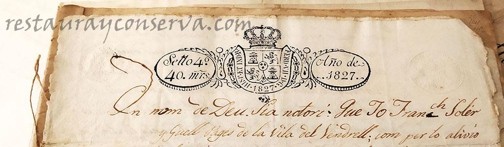 Documento notarial año 1927 - conservayrestaura.com